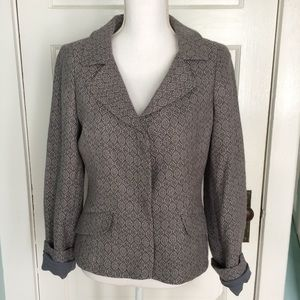 Liz Claiborne Gray & Lilac Wool Career Blazer, 6